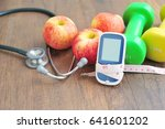 diabetes control with exercise...   Shutterstock . vector #641601202