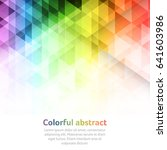 colorful abstract vector... | Shutterstock .eps vector #641603986