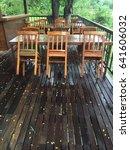 set table on the resort. | Shutterstock . vector #641606032
