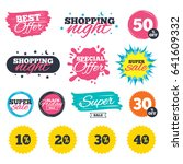 sale shopping banners. special...   Shutterstock .eps vector #641609332