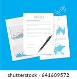mou memorandum of understanding ... | Shutterstock .eps vector #641609572
