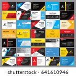 35 colorful modern business... | Shutterstock .eps vector #641610946