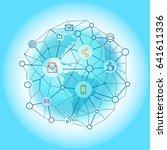 modern global network abstract... | Shutterstock .eps vector #641611336