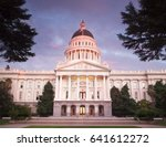 the state capitol of california ... | Shutterstock . vector #641612272