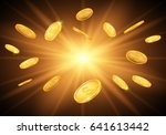 falling gold coins. vector...   Shutterstock .eps vector #641613442