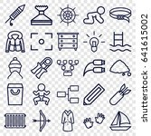 outline icons set. set of 25... | Shutterstock .eps vector #641615002
