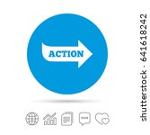 action sign icon. motivation... | Shutterstock .eps vector #641618242