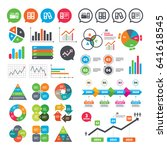 business charts. growth graph....   Shutterstock .eps vector #641618545