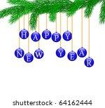 happy new year | Shutterstock .eps vector #64162444