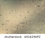 abstract square pixel mosaic... | Shutterstock .eps vector #641624692