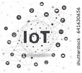 internet of things concept and... | Shutterstock .eps vector #641630656