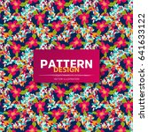 ethnic floral seamless pattern... | Shutterstock .eps vector #641633122