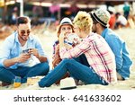 a group of friends having great ...   Shutterstock . vector #641633602