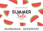 summer sale banner on cute... | Shutterstock .eps vector #641634142