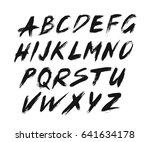 painted abc font brush strokes | Shutterstock .eps vector #641634178