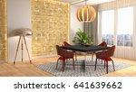 interior dining area. 3d... | Shutterstock . vector #641639662