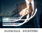 businessman pointing at... | Shutterstock . vector #641645086