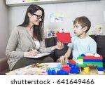 school psychologist with...   Shutterstock . vector #641649466