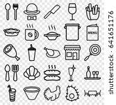restaurant icons set. set of 25 ...   Shutterstock .eps vector #641651176