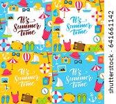 summer posters. vector...   Shutterstock .eps vector #641661142