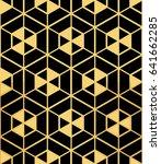 art deco seamless pattern... | Shutterstock .eps vector #641662285