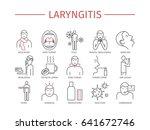 laryngitis. symptoms  treatment.... | Shutterstock . vector #641672746