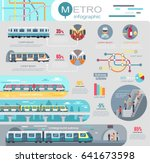 metro infographic with... | Shutterstock .eps vector #641673598