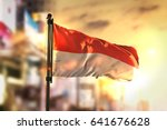 indonesia flag against city... | Shutterstock . vector #641676628