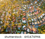 aerial view of a typical suburb ... | Shutterstock . vector #641676946