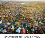 aerial view of a typical suburb ... | Shutterstock . vector #641677402