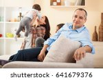 portrait of father with his... | Shutterstock . vector #641679376