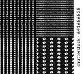 geometric monochrome seamless... | Shutterstock .eps vector #641686828