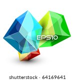 abstract glass cubes. vector... | Shutterstock .eps vector #64169641