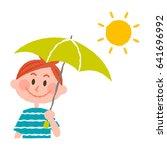 vector illustration of a woman... | Shutterstock .eps vector #641696992