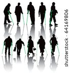 ten old and disabled people...   Shutterstock .eps vector #64169806