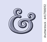 ampersand symbol with natural... | Shutterstock .eps vector #641700052