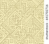 creative ethnic style square... | Shutterstock .eps vector #641702716