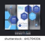 trifold leaflet  textbook cover ... | Shutterstock .eps vector #641704336
