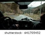 empty mountain road  view from...   Shutterstock . vector #641705452