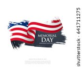 memorial day. remember and... | Shutterstock .eps vector #641711275