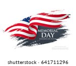 memorial day. remember and... | Shutterstock .eps vector #641711296