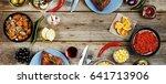 concept of home food.... | Shutterstock . vector #641713906