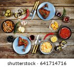 concept of home food.... | Shutterstock . vector #641714716