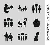 mom icons set. set of 9 mom...   Shutterstock .eps vector #641717326