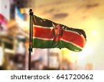 kenya flag against city blurred ... | Shutterstock . vector #641720062