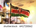 kenya flag against city blurred ... | Shutterstock . vector #641720062