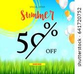 summer selling ad banner ... | Shutterstock .eps vector #641720752