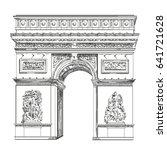 triumphal arch  landmark of... | Shutterstock .eps vector #641721628