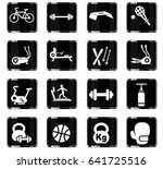sport equipment web icons for