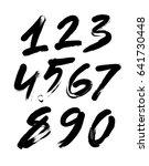 vector set of calligraphic... | Shutterstock .eps vector #641730448
